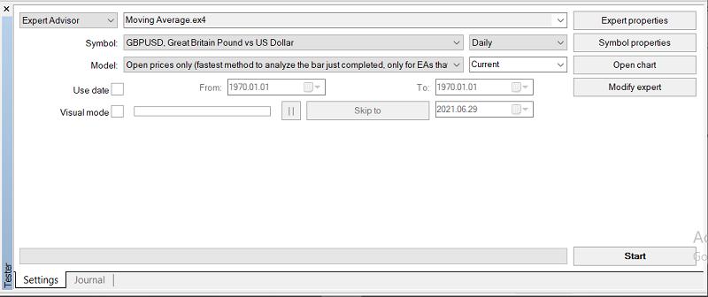بک تست اتوماتیک با استفاده از پنجره tester در متاتریدر4