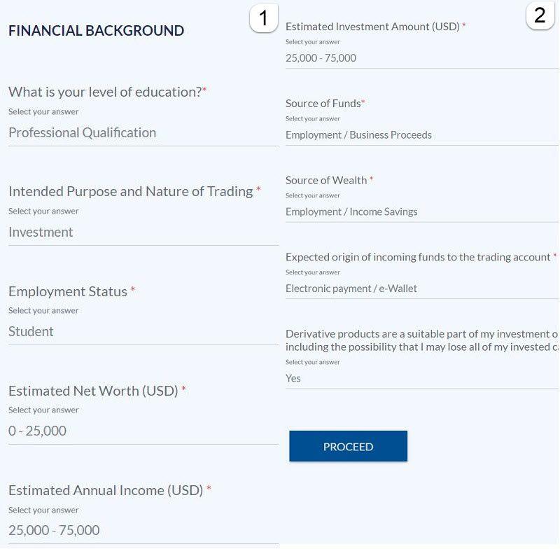 فرم اطلاعات مالی